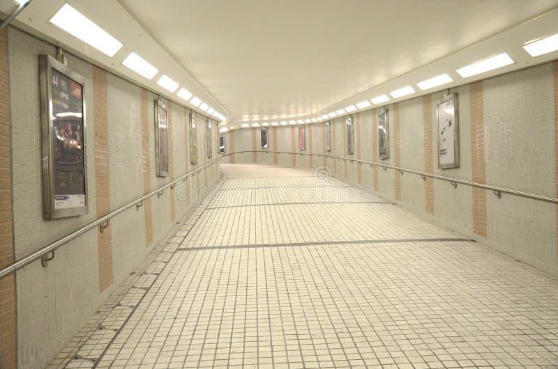 Tunnel sous la route de Salisbury, Hong Kong photo stock