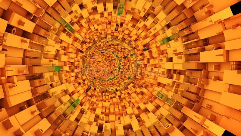 Tunnel tecnologico astratto fotografia stock