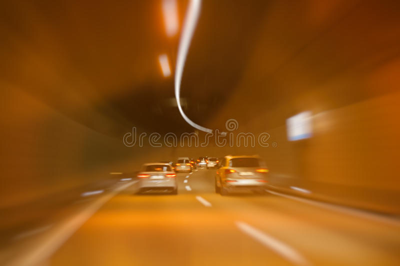 Tunnel traffic stock images
