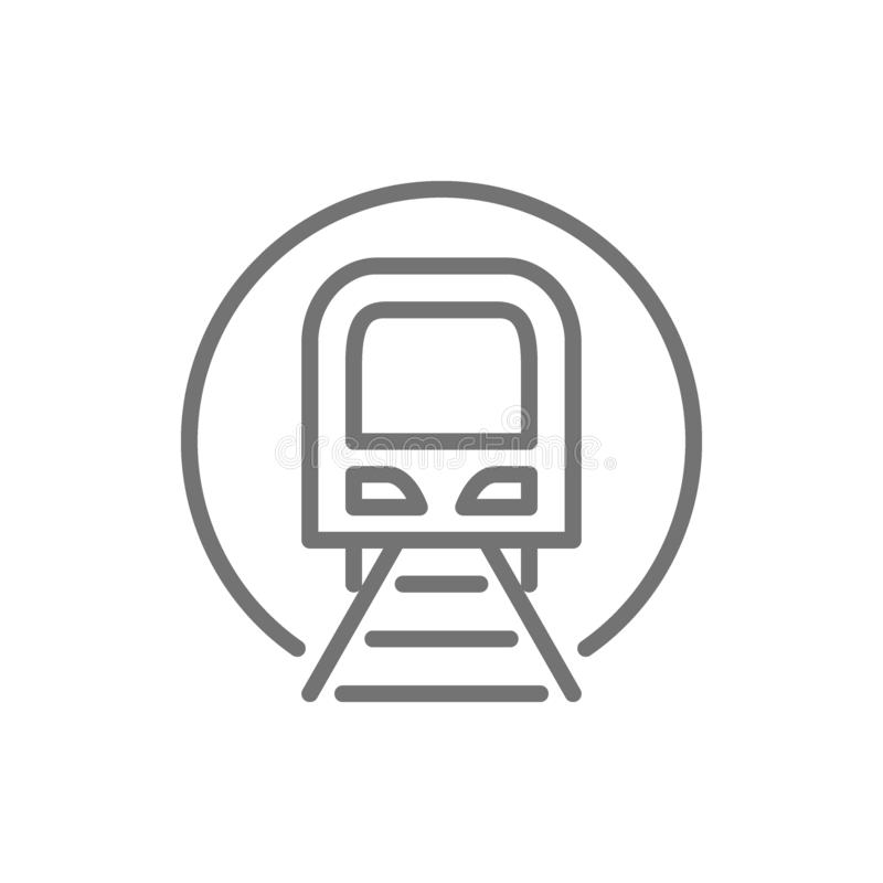 Tunnel with train sign, metro, subway, railway station line icon. vector illustration