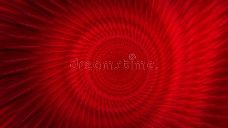 Tunnel Travel Wormhole with Red Lights. 3d illustration.  vector illustration