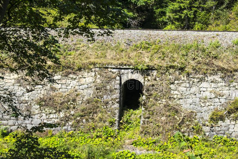 Tunnel under the railway royalty free stock images