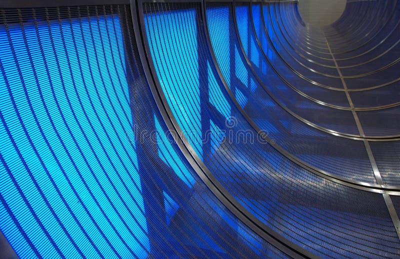 Tunnel van Blauw stock foto's