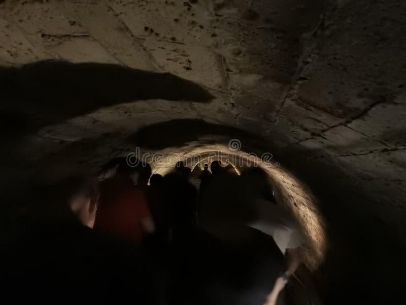 Tunnel van de Ridders Templar De Oude Stad van Akko israël royalty-vrije stock foto's