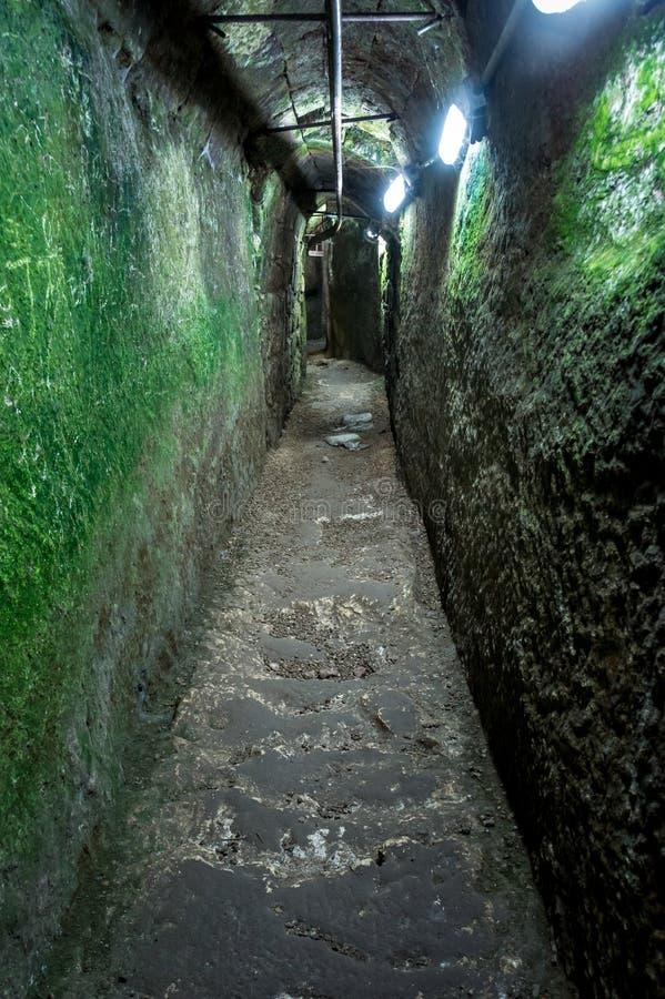 Tunnel van Waterkanaal royalty-vrije stock afbeeldingen