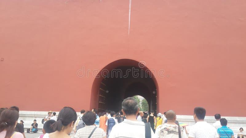 Tunnel van zich het Herinneren in Peking, China royalty-vrije stock foto's