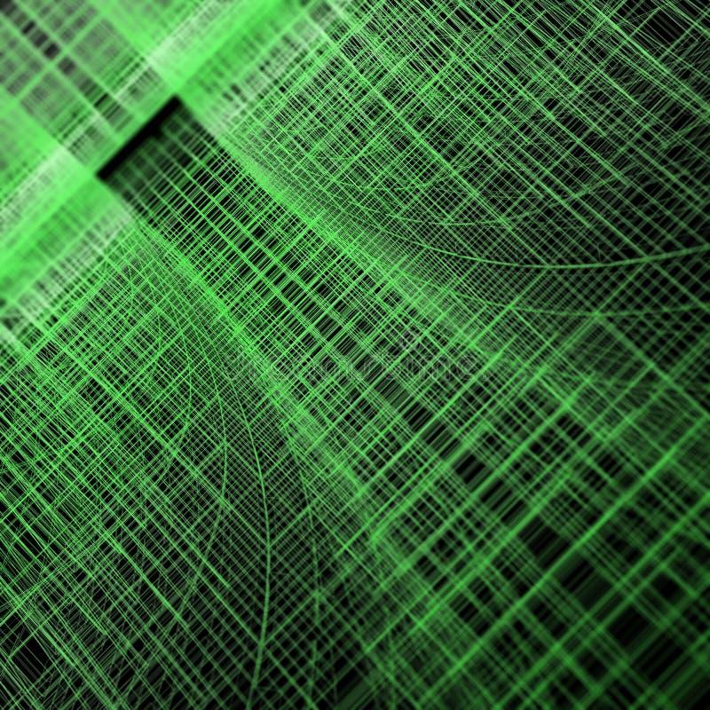 Tunnel vert de matrice illustration de vecteur