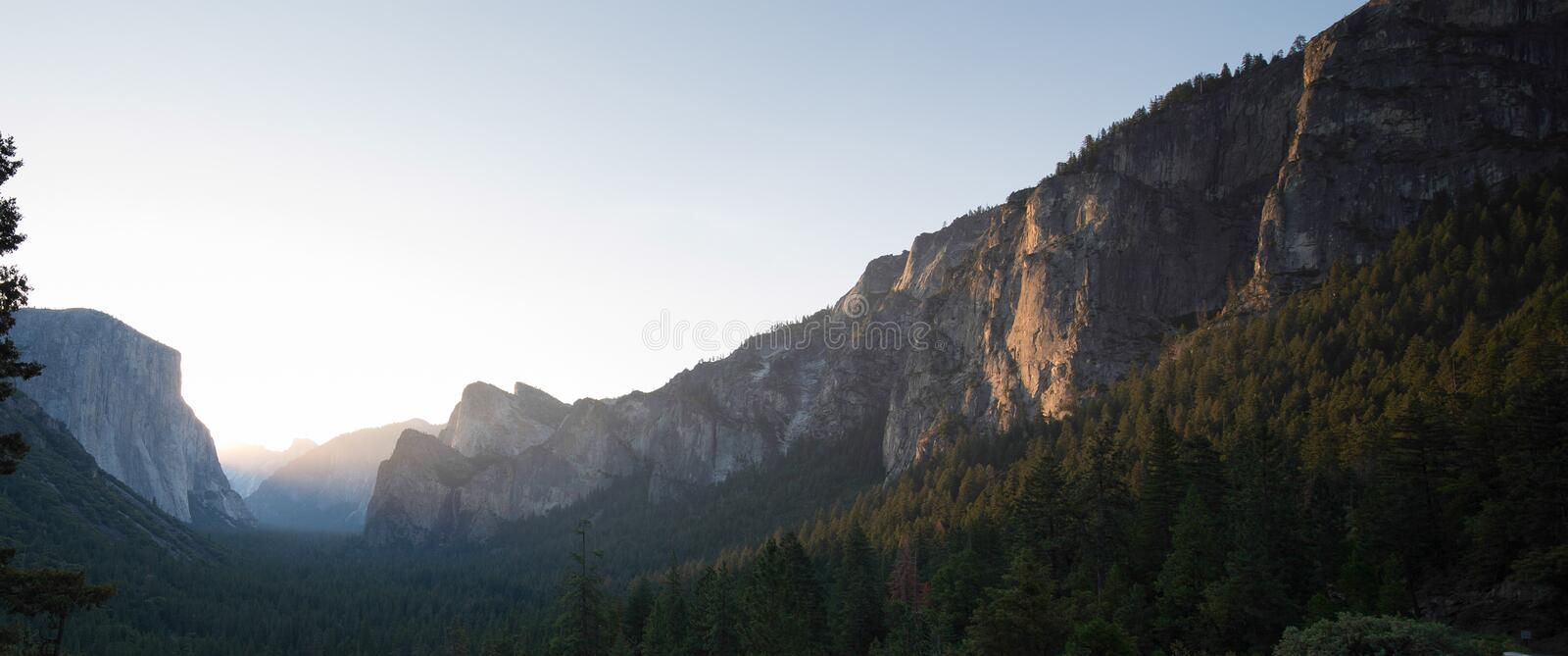 Tunnel View Yosemite Royalty Free Stock Images