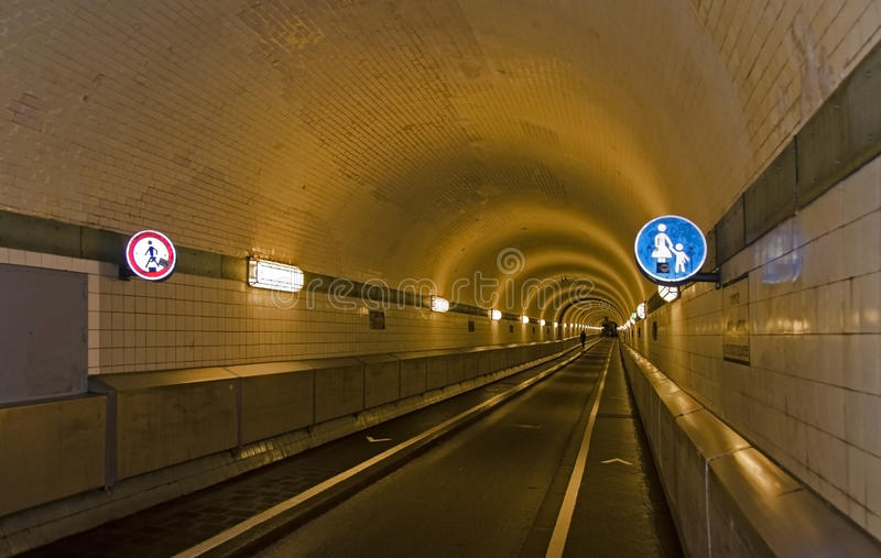 Tunnel with walking ban for men stock image