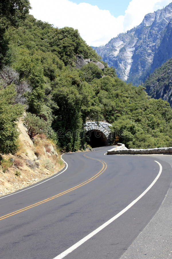 Tunnel On Winding Road Royalty Free Stock Photos