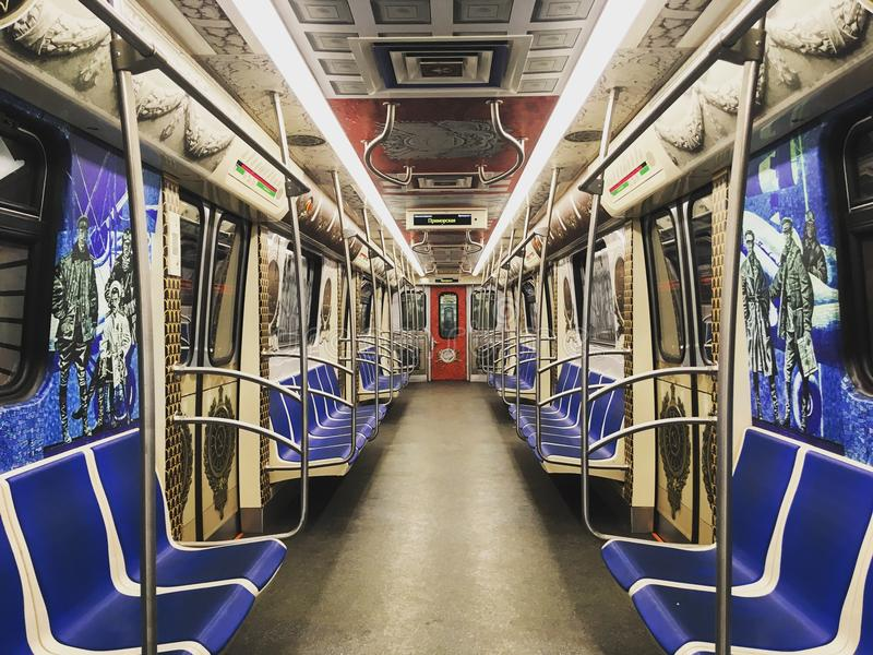 Tunnelbana gångtunnel, tunnelbana royaltyfria bilder