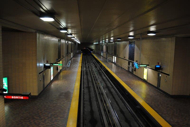 Tunnelbana montreal royaltyfria bilder