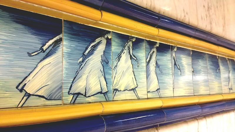 Tunnelbanakonst fotografering för bildbyråer