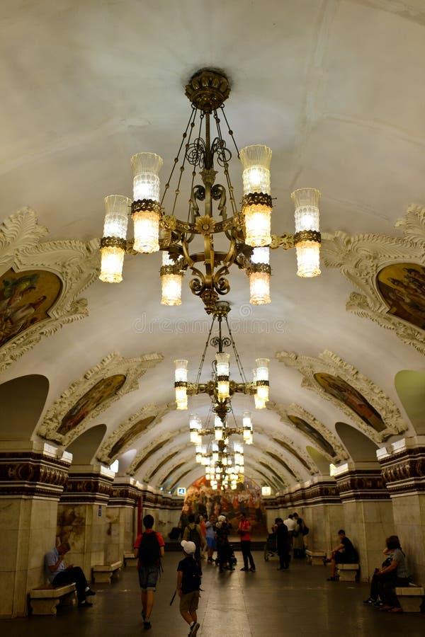 Tunnelbanan av Moskva fotografering för bildbyråer