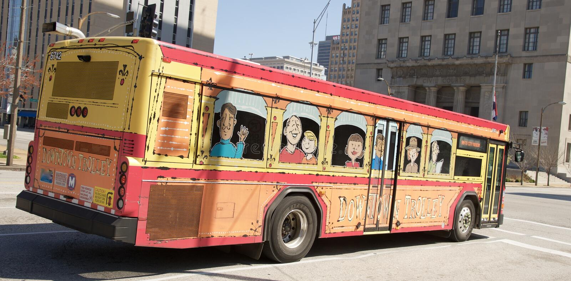 Tunnelbanastadsbuss St Louis royaltyfria bilder