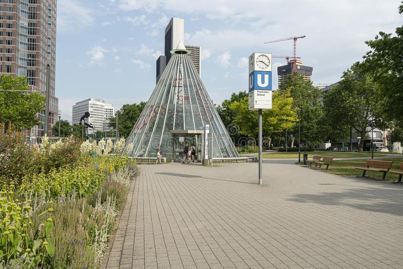 Tunnelbanastation i Frankfurt royaltyfria bilder
