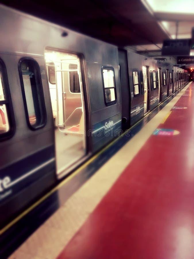 Tunnelbanasubte i Buenos Aires, Argentina royaltyfri foto