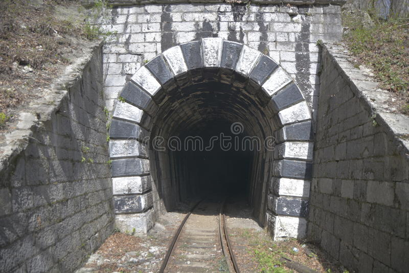 Tunneleingang lizenzfreie stockbilder