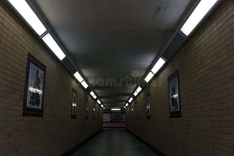 Tunnelen på vägen till den Karatsu slotten Karatsu-Jo royaltyfria bilder