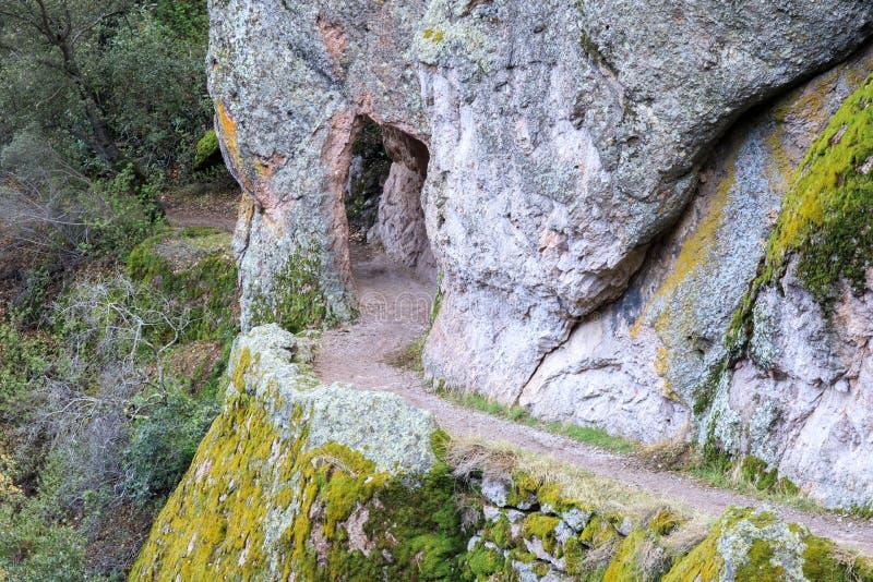 Tunnelen vaggar slingan för höga maxima arkivbild