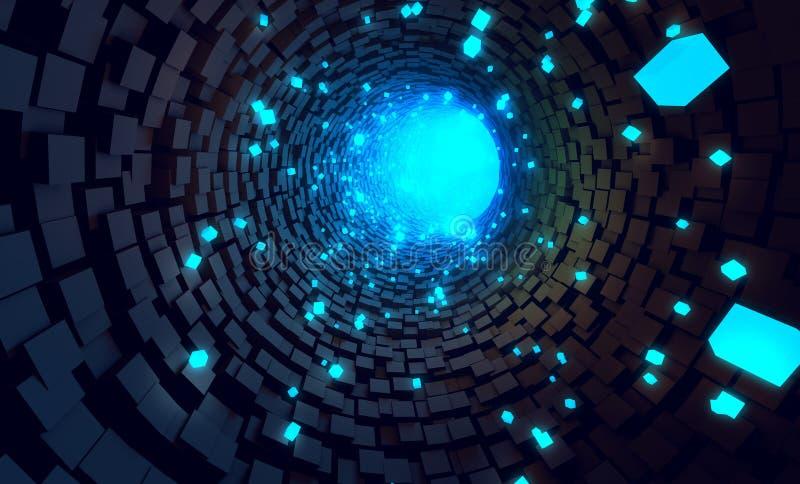 Tunnelgegevens stock foto