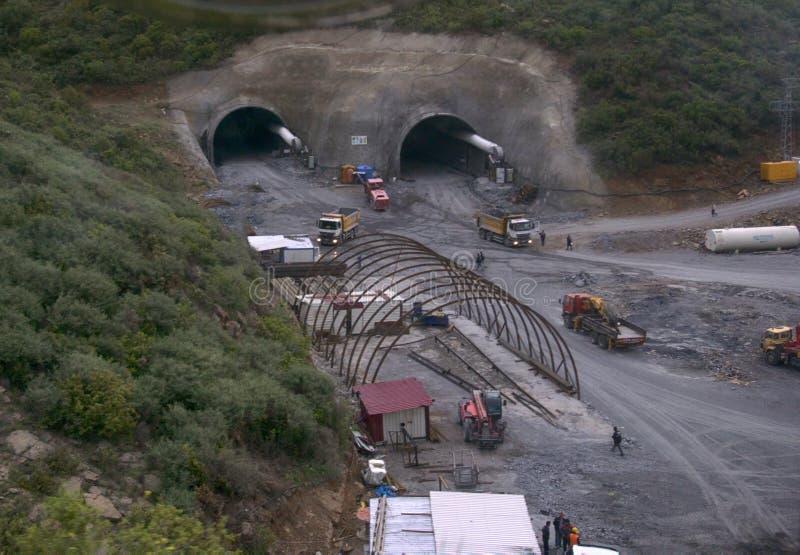 Tunnelkonstruktionsplats fotografering för bildbyråer