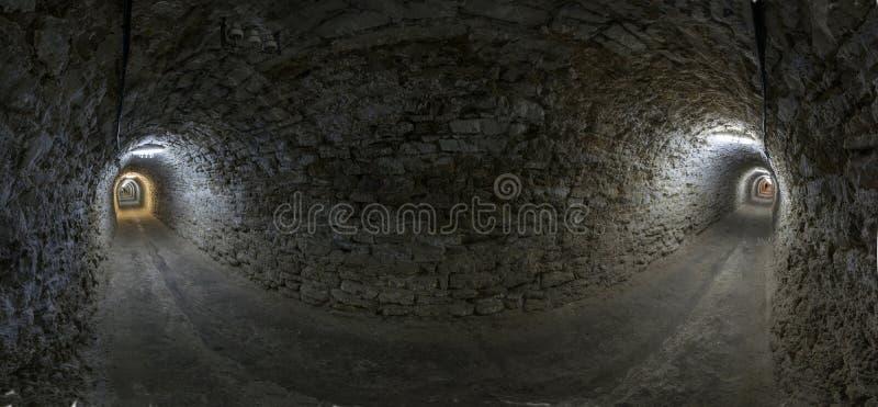 Tunnelpanorama royalty-vrije stock afbeeldingen