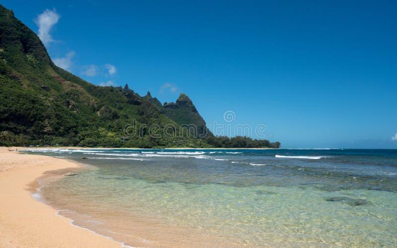 Tunnelsstrand op de het noordenkust Kauai royalty-vrije stock afbeeldingen