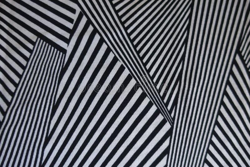 Tunt tyg med trycket i svartvitt arkivfoton