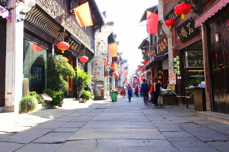 Tunxi Chinas Anhui stockfotos