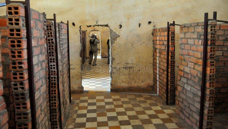 Tuol Sleng种族灭绝博物馆,金边,柬埔寨。 库存照片