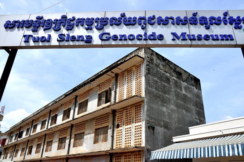 Tuol Sleng种族灭绝博物馆,金边,柬埔寨 库存图片