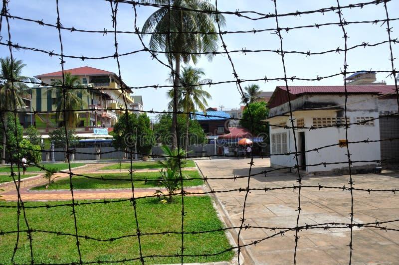Tuol Sleng种族灭绝博物馆,金边,柬埔寨 库存照片