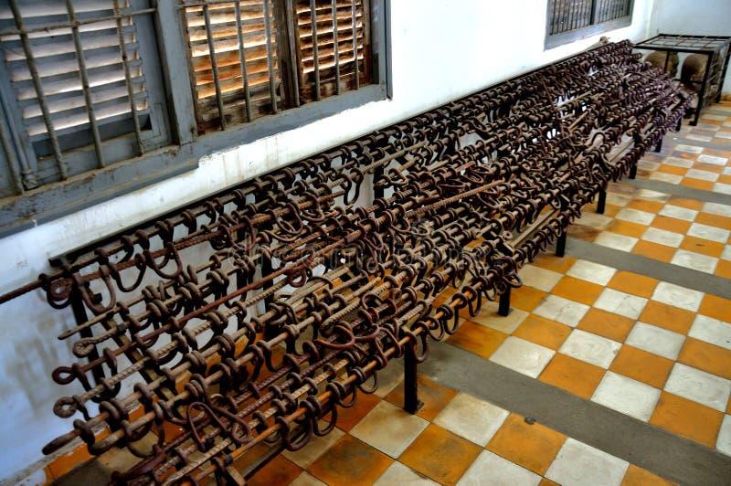 Tuol Sleng种族灭绝博物馆,金边,柬埔寨 免版税库存图片
