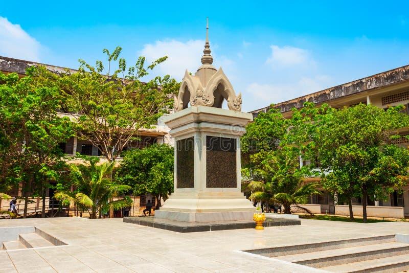 Tuol Sleng种族灭绝博物馆,金边 图库摄影