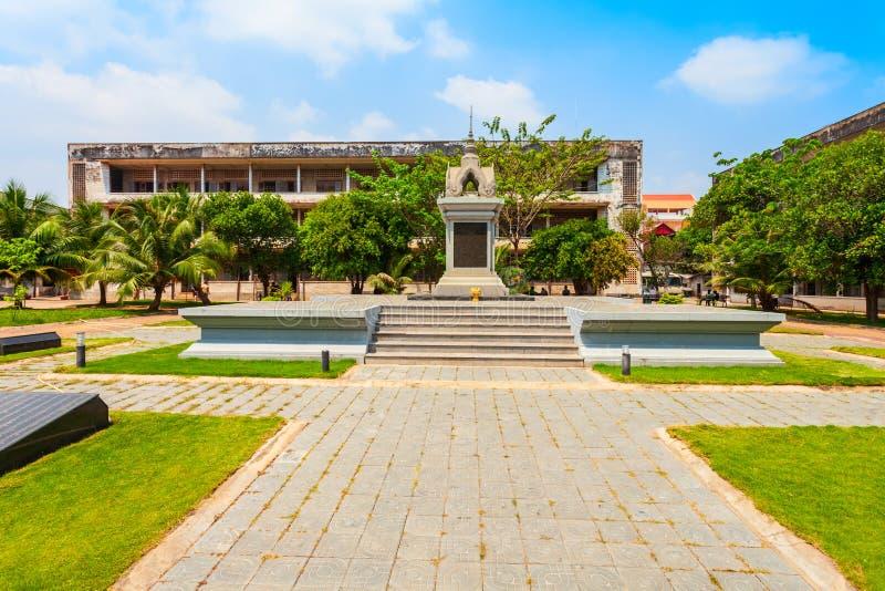 Tuol Sleng种族灭绝博物馆,金边 库存图片