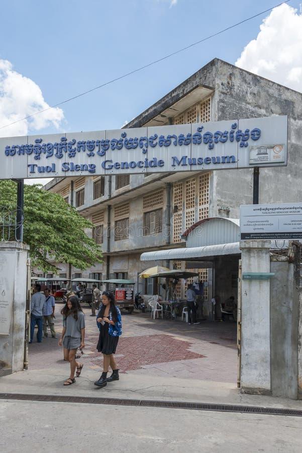 Tuol Sleng folkmordmuseum på Phnom Penh arkivfoton