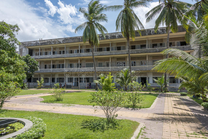 Tuol Sleng Genocide Museum at Phnom Penh, Cambodia stock photography