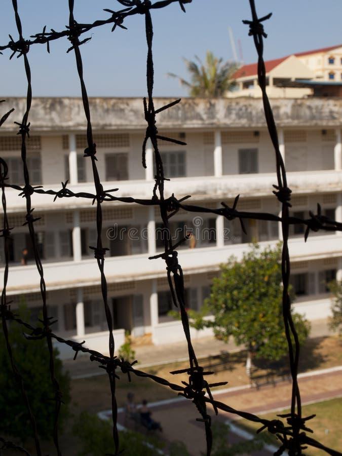 tuol sleng prision phnom penh стоковое изображение
