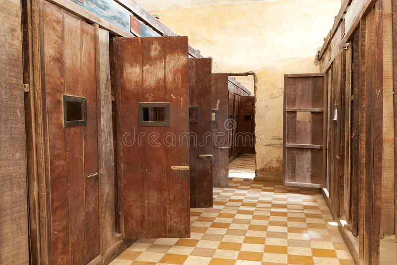Tuol Sleng prison Phnom Penh. Torture center of red khmer in cambodia stock photos