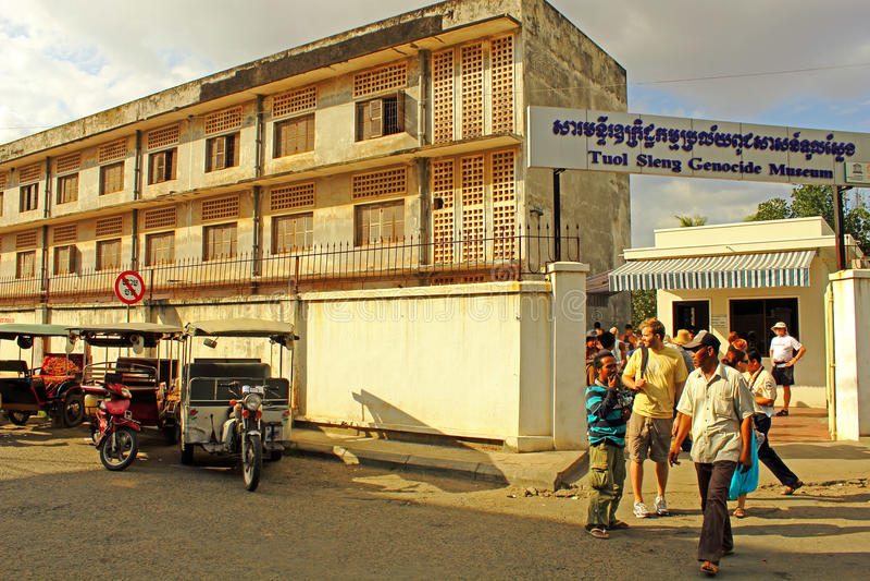Tuol Sleng Prison, Phnom Penh stock image