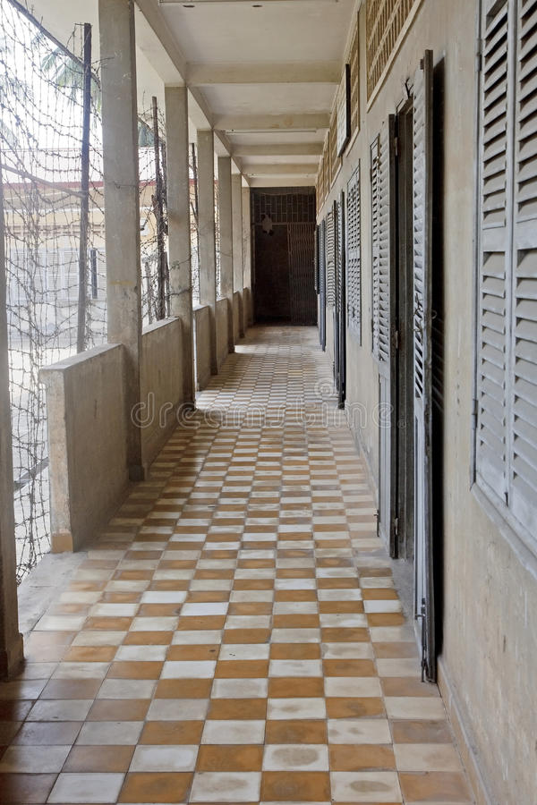 Tuol Sleng (S21) Prison in Phnom Penh royalty free stock images