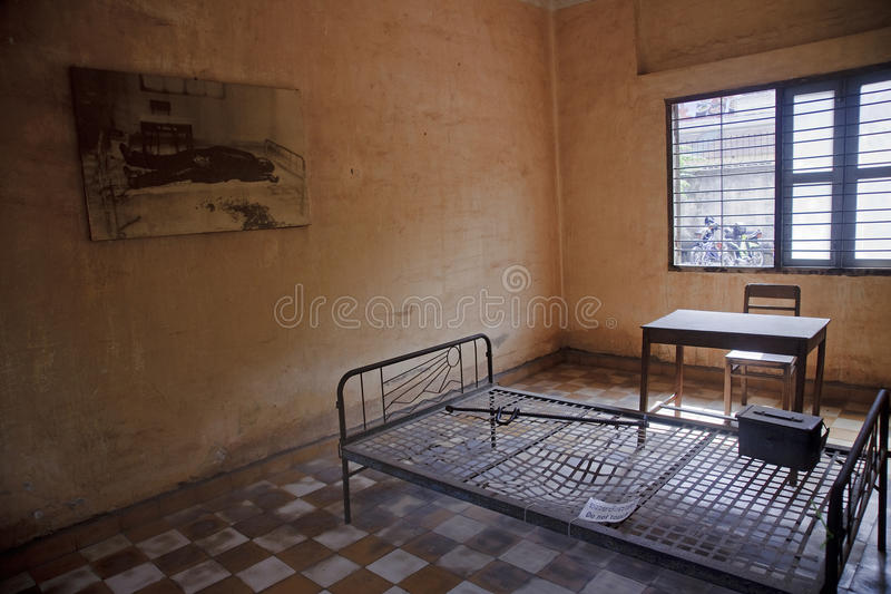 Tuol Sleng (S21) Prison in Phnom Penh royalty free stock photography