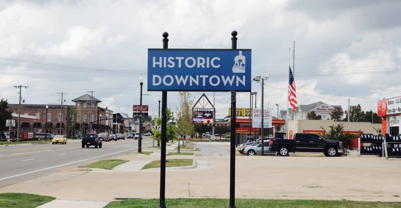 Tupelo, Historische Van de binnenstad van de Mississippi stock foto's