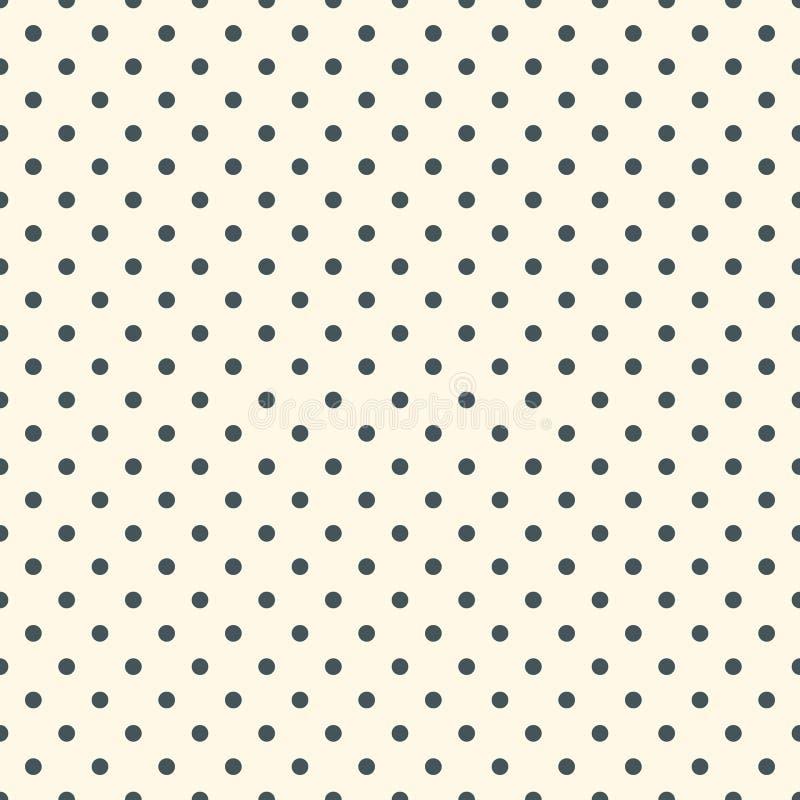 Tupfenbeschaffenheit Nahtloses Oberflächenmuster mit klassischer geometrischer Verzierung Wiederholtes Kreismotiv Eine Abbildung  stock abbildung