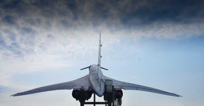 Tupolev supersónico TU-144 de los aviones fotografía de archivo