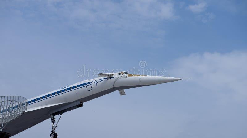 Tupolev supersónico TU-144 de los aviones foto de archivo libre de regalías
