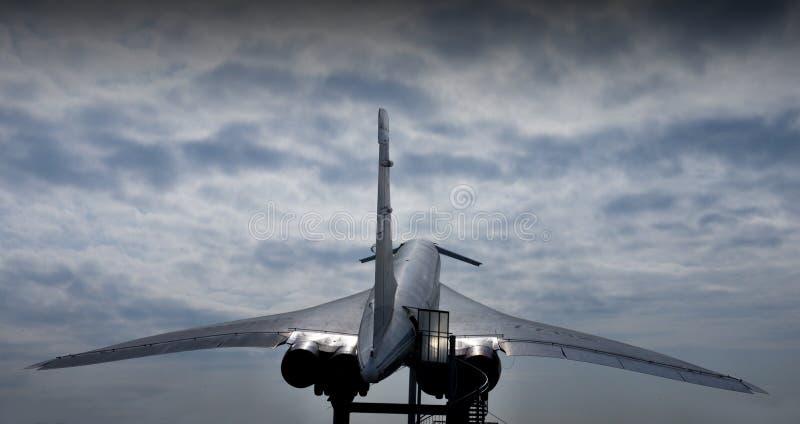 Tupolev supersónico TU-144 de los aviones imagen de archivo libre de regalías