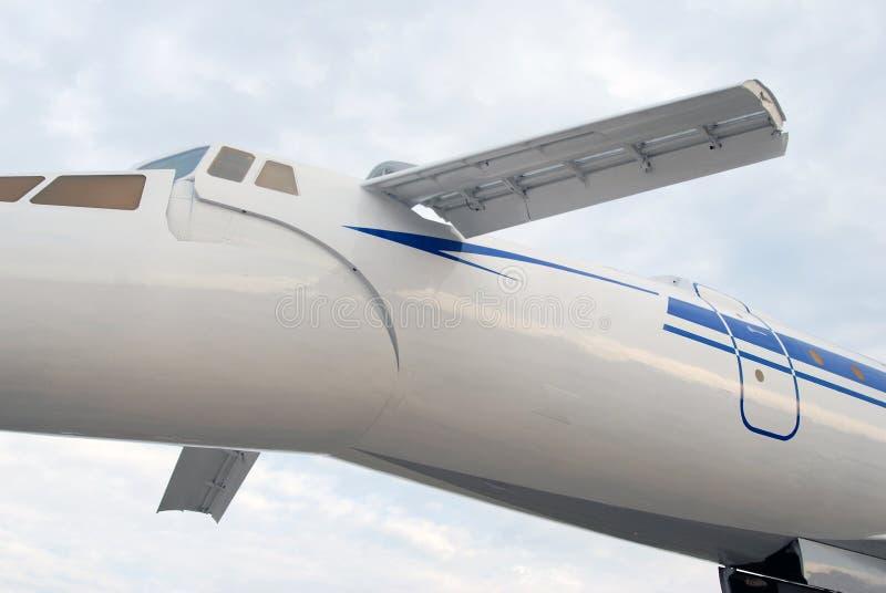 Tupolev supersonique russe Tu-144 d'avion. image stock