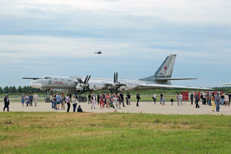 Tupolev TU-95 (αρκούδα) στρατηγικό βομβαρδιστικό αεροπλάνο στοκ εικόνες